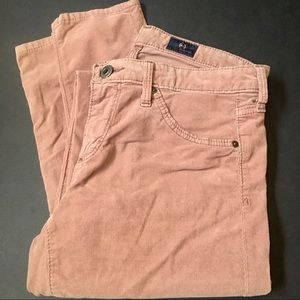 Ag ADRIANO GOLDSCHMIED Dusty Rose Corduroy Pants